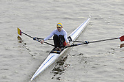 London, Great Britain, 2008 Scullers Head of the River Race,  Tim MALE, racing over the Championship Course, Mortlake to Putney, on the River Thames.   Saturday, 06/12/2008. [Mandatory Credit: ? Peter Spurrier/Intersport Images]. Rowing Course: River Thames, Championship course, Putney to Mortlake 4.25 Miles,