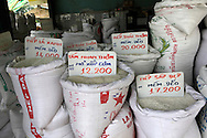 Rice prices along the Mekong River in Vietnam<br /> <br />  photo by Dennis Brack