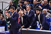 Gianmarco Pozzecco, Gianmario Dettori, Edoardo Casalone<br /> Banco di Sardegna Dinamo Sassari - Dolomiti Energia Trentino Trento<br /> LBA Legabasket Serie A 2019-2020<br /> Sassari, 25/01/2020<br /> Foto L.Canu / Ciamillo-Castoria
