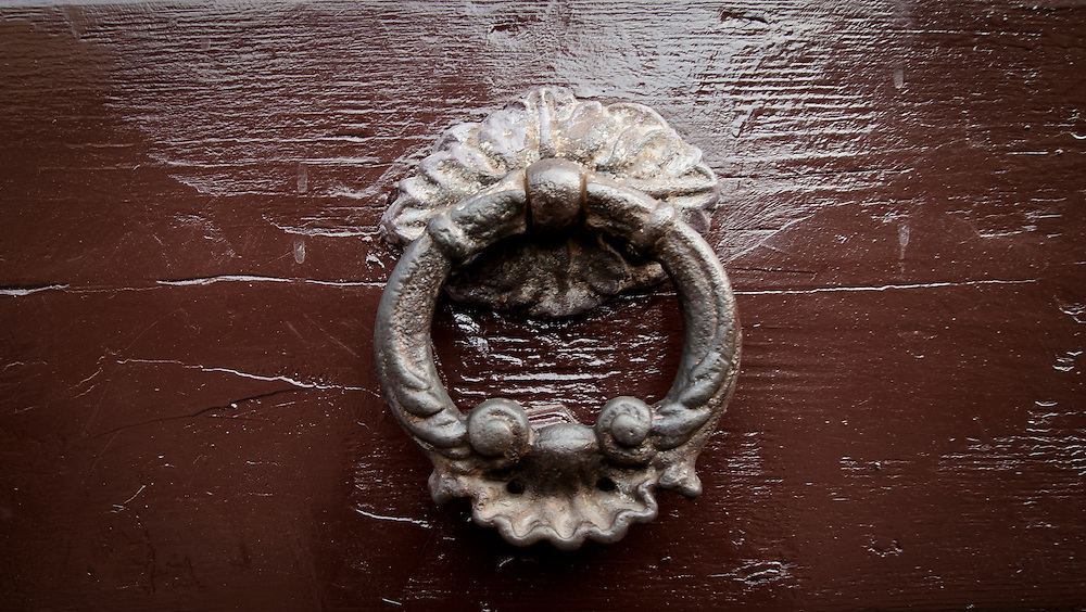 Old Door Knocker, Mantua, Italy. A series of captures from a personal trip to the cities of Milan and Mantua, featuring explorations of Renaissance architecture and the vibrant life of Italian streets.