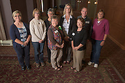 Staff with fifteen years of service pose for a portrait during the 48th Annual Classified Staff Service Awards in Baker Center Ballroom on Friday, October 14, 2016.
