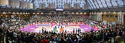 20-03-2016 ITA: Finale Coppa Italia A1 Foppapedretti Bergamo - Nordmeccanica Piacenza, Ravenna<br /> Foppapedretti Bergamo heeft met klinkende cijfers de Italiaanse beker binnengehaald. In Ravenna werd Piacenza met 3-0 verslagen / De prachtige sporthal Pala De Andr&egrave; di Ravenna<br /> <br /> ***NETHERLANDS ONLY***