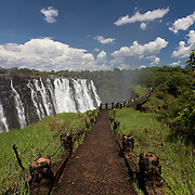 How many people have walked on this path over the years? Victoria Falls see close to a million visitors a year.
