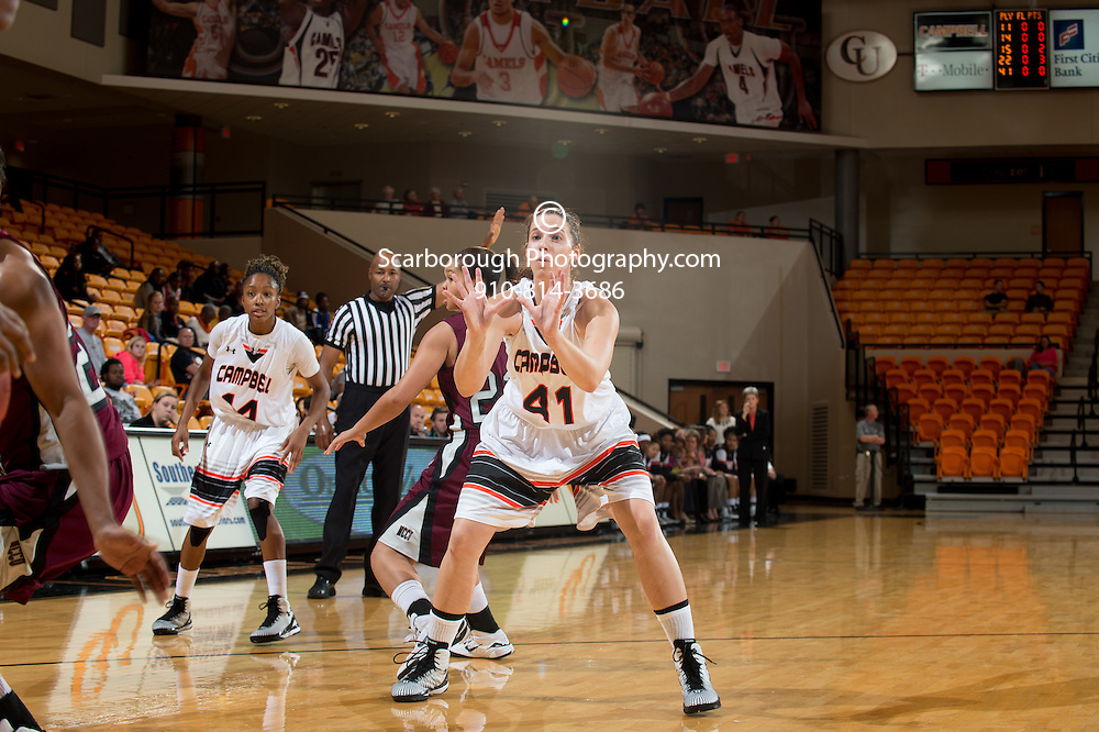 BUIES CREEK, NC - NOVEMBER 14, 2014 - Campbell Camels and the NCCU Eagles at Gilbert Craig Gore Arena in Buies Creek, NC. Photo By Bennett Scarborough