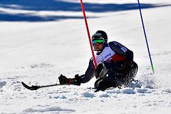 PEDERSEN Jesper, LW11, NOR, Slalom at the WPAS_2019 Alpine Skiing World Cup, La Molina, Spain