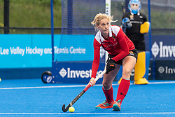 Holcombe's Leah Wilkinson. Holcombe v Surbiton - Investec Women's Hockey League Final, Lee Valley Hockey & Tennis Centre, London, UK on 29 April 2018. Photo: Simon Parker