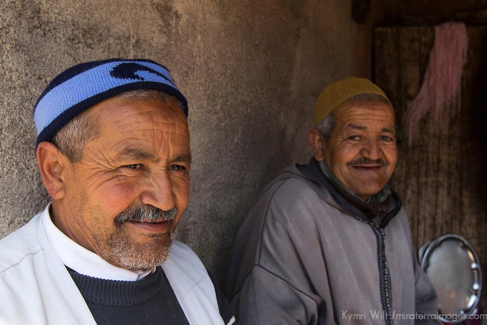 Africa, Morocco, Imlil. Moroccan Berber Villagers.