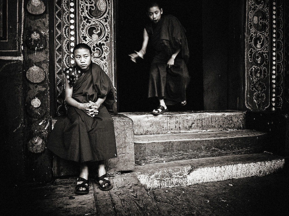 Asia, Bhutan, Travel, little, young, monk