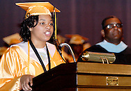 Chanteal C. Moore delivers words of inspiration during the Fiftieth Meadowdale High School commencement at the Dayton Masonic Center, Saturday, May 21, 2011.  This is also the first graduating class of 'the new Meadowdale High School' since they moved into the new building as seniors.