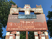 Archway entrance to grocery over 20 ft tall-**** sign on top Home of Double Headed Eagle and Herman Dennis (missing blue Margaret&rsquo;s sign- its in the collection ) <br />