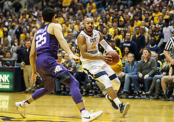 Feb 12, 2018; Morgantown, WV, USA; West Virginia Mountaineers guard Jevon Carter (2) drives towards the basket during the second half against the TCU Horned Frogs at WVU Coliseum. Mandatory Credit: Ben Queen-USA TODAY Sports