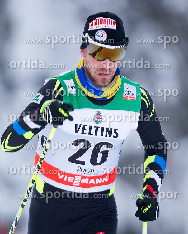 30.11.2014, Nordic Arena, Ruka, FIN, FIS Weltcup Langlauf, Kuusamo, 15 km Herren, im Bild Mathias Wibault (FRA) // Mathias Wibault of France during Mens 15 km Cross Country Race of FIS Nordic Combined World Cup at the Nordic Arena in Ruka, Finland on 2014/11/30. EXPA Pictures © 2014, PhotoCredit: EXPA/ JFK