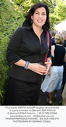 TV presenter KIRSTIE ALLSOPP daughter of Lord Hindlip at a party in London on 28th June 2004.PWN 33