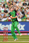 14th January 2019, Melbourne Cricket Ground, Melbourne, Australia; Australian Big Bash Cricket, Melbourne Stars versus Hobart Hurricanes; Tom O'Connell of the Melbourne Stars bowls the ball