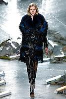 Kadri Vahersalu (Muse) walks the runway wearing Rodarte Fall 2015 during Mercedes-Benz Fashion Week in New York on February 17, 2015