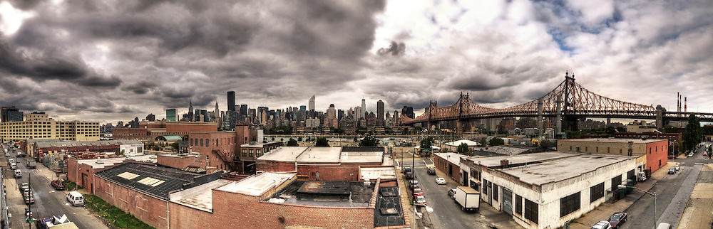 Working on a Television movie set gives you access to some pretty interesting places.  I was working on the set of FX's TV series Rescue Me in Long Island City.  We were shooting a roof top scene between Denis Leary and Larenz Tate and Daniel Sunjata.  Seeing the view in front of me I just had to take the picture.