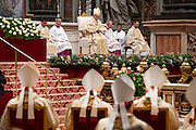 Vatican City dec 12th 2015, holy mass in St Peter's Basilica for festivity of Our Lady of Guadalupe. In the picture pope Francis