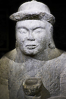 Mongolie, Oulan-Bator, musée de l'histoire nationale, stele d'un noble de la période de l'Empire Mongol, 13-14e siècle // Mongolia, Ulan-Bator, National historical Museum, a nobleman's stele, the Mongolia Empire period, 13th - 14th century