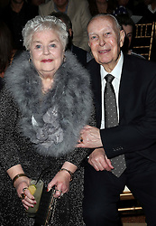 Glyn and Joan Macdonald  the parents of designer  Julien Macdonald  sit in the front row for his show at London Fashion Week,  Saturday, 15th February 2014. Picture by Stephen Lock / i-Images.