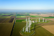 Nederland, Flevoland, Zeewolde, 28-10-2014; <br /> Zenderpark Flevoland, kortegolfzendstation, ook bekend als Zenderpark Radio Nederland Wereldomroep. Oorspronkelijk in gebruik bij de Wereldomroep. Shortwave Broadcasting station in the polder of Flevoland. Formerly used by Radio Netherlands Worldwide (Radio Nederland Wereldomroep). <br /> luchtfoto (toeslag op standard tarieven); aerial photo (additional fee required); copyright foto/photo Siebe Swart