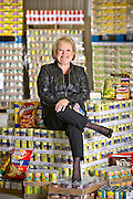 Marge Wolf with the Northwest Arkansas food bank.
