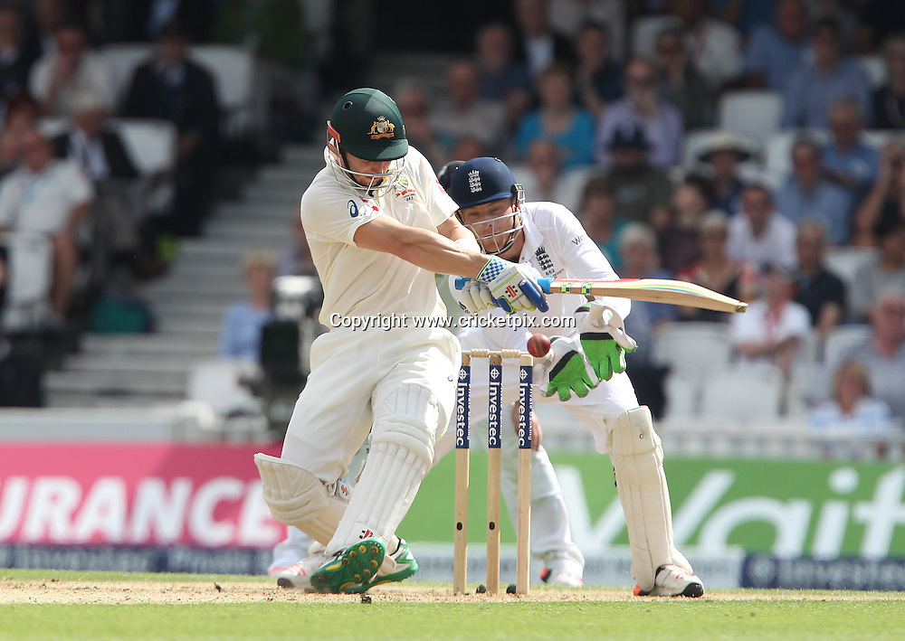 Steven Finn of England reacts after his wicket of Steve Smith of Australia had been ruled not out becuase of a no-ball. England v Australia, 5th and final Ashes Test, Day 2, Oval, London. 21/08/2015 © Matthew Impey/www.cricketpix.com
