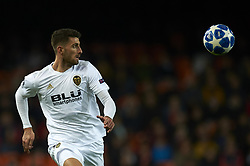 December 12, 2018 - Valencia, Spain - Cristiano Piccini of Valencia during the match between Valencia CF and Manchester United at Mestalla Stadium in Valencia, Spain on December 12, 2018. (Credit Image: © Jose Breton/NurPhoto via ZUMA Press)