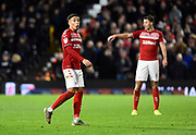 Marcus Tavernier (7) of Middlesbrough during the EFL Sky Bet Championship match between Fulham and Middlesbrough at Craven Cottage, London, England on 17 January 2020.