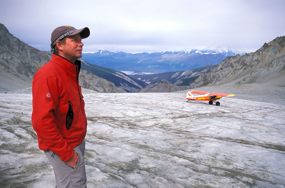 Paul Claus of Ultima Thule Lodge, Unnamed Glacier, Wrangell St. Elias National Park, Alaska, USA