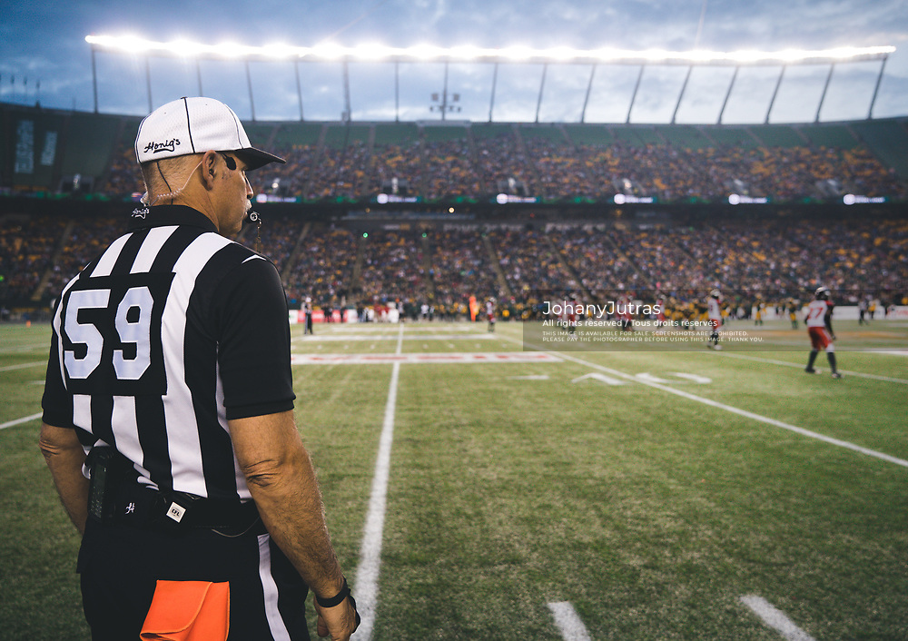 during the game at Commonwealth Stadium in Edmonton AB, Saturday, September 9, 2017. (Photo: Johany Jutras)