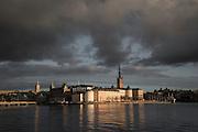 Vy från Stadshuset över Riddarfjärden mot Riddarholmen
