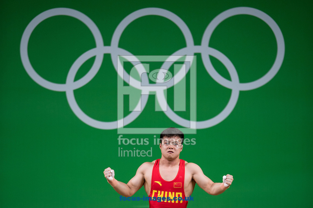Qingquan Long of China winning the Gold medal in the Men's 56 Kg Weightlifting during XXXI 2016 Olympic Summer Games at Rio de Janeiro, Brazil.<br /> Picture by EXPA Pictures/Focus Images Ltd 07814482222<br /> 08/08/2016<br /> *** UK &amp; IRELAND ONLY ***<br /> <br /> EXPA-Eibner-Pressefoto-160808-5054.jpg