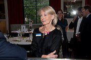 SANDRA HOWARD, Literary charity First Story fundraising dinner. Cafe Anglais. London. 10 May 2010. *** Local Caption *** -DO NOT ARCHIVE-© Copyright Photograph by Dafydd Jones. 248 Clapham Rd. London SW9 0PZ. Tel 0207 820 0771. www.dafjones.com.<br /> SANDRA HOWARD, Literary charity First Story fundraising dinner. Cafe Anglais. London. 10 May 2010.