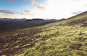 Landscape and mountains near Landmannalaugar, Iceland
