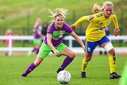 Lucy Graham of Bristol City is challenged by Marisa Ewers of Birmingham City Women - Mandatory by-line: Ryan Hiscott/JMP - 14/10/2018 - FOOTBALL - Stoke Gifford Stadium - Bristol, England - Bristol City Women v Birmingham City Women - FA Women's Super League 1