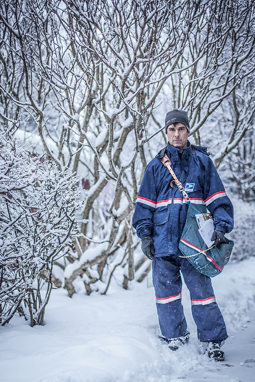"""""""I'll send this to my mother…she always wants to know what I do.""""  -Letter Carrier, Bill Hanek, South Addition, Anchorage"""