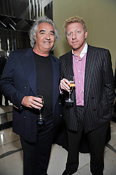 Left to right, FLAVIO BRIATORE and BORIS BECKER at a dinner in honour of Dennis Basso in celebration of his new boutique in Harrods held at Claridge's, Brook Street, London on 15th October 2009.