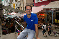 Serge Pierrard, one of the owners and founders of Travel Stone photographed in Hong Kong.