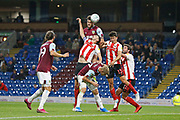 Kevin Long of Burnley heads towards goal during the EFL Cup match between Burnley and Sunderland at Turf Moor, Burnley, England on 28 August 2019.
