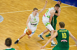 Miha Lapornik of Slovenia during basketball match between National teams of Slovenia and Lithuania in First Round of U20 Men European Championship Slovenia 2012, on July 14, 2012 in Domzale, Slovenia.  (Photo by Vid Ponikvar / Sportida.com)