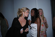 Rachel Hunter and  Antoinette Williams. Art Plus dance fundraising party. Whitechapel gallery. 21 March 2005. ONE TIME USE ONLY - DO NOT ARCHIVE  © Copyright Photograph by Dafydd Jones 66 Stockwell Park Rd. London SW9 0DA Tel 020 7733 0108 www.dafjones.com