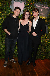 Left to right, Fenton Bailey, Paulina Daska and Sasha Bailey at the Dom Perignon Rose 2002 Dark Jewel launch with Stephen Webster held at The Connaught Hotel, London on 12th June 2013.