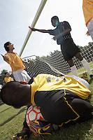 Referee Handing Out a Red Card