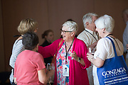 Members of the Class of 1967 socialize on June 16 on campus. (Photo by Libby Kamrowski)