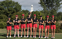 The Rutgers Scarlet Knights women's golf team photo on Tuesday, September 13, 2016.<br /> (Ben Solomon/Rutgers Athletics)`