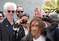 Director Jim Jarmusch and Iggy Pop at the Gimme Danger film photo call at the 69th Cannes Film Festival Thursday 19th May 2016, Cannes, France. Photography: Doreen Kennedy