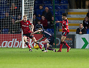 8th May 2018, Global Energy Stadium, Dingwall, Scotland; Scottish Premiership football, Ross County versus Dundee; Penalty claim late in the match for Michael Gardyne of Ross County after a challenge from Faissal El Bakhtaoui of Dundee