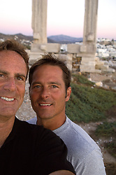 two men in Naxos, Greece