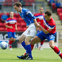 St Johnstone v Rangers... 30.07.11   SPL Week 2<br /> David Robertson and Lee Wallace<br /> Picture by Graeme Hart.<br /> Copyright Perthshire Picture Agency<br /> Tel: 01738 623350  Mobile: 07990 594431