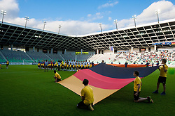 German flag during the UEFA European Under-17 Championship Group A match between Iceland and Germany on May 7, 2012 in SRC Stozice, Ljubljana, Slovenia. Germany defeated Iceland 1-0. (Photo by Vid Ponikvar / Sportida.com)